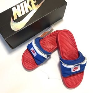Nike Benassi Fanny Pack Slides Size 7 New In Box